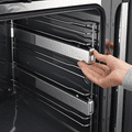MIELE H7464BP Oven seamless design with food probe and LED lighting.